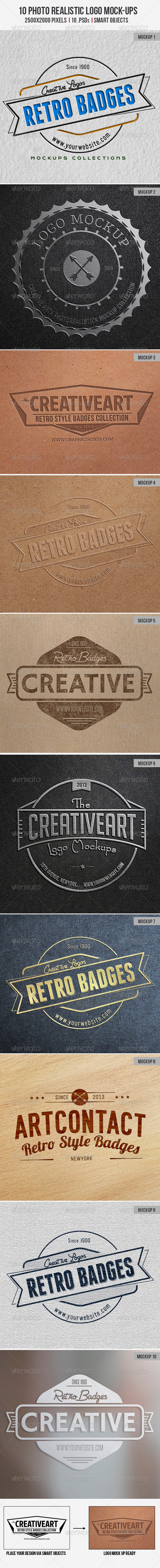10 Photo realistic Logo Mock-Up - Logo Product Mock-Ups