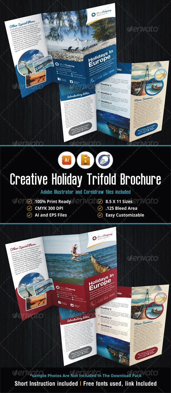 GraphicRiver Creative Holiday Trifold Brochure 5532350