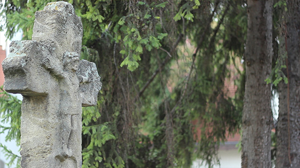 VideoHive Ancient Stone Cross with Christ on 5532689