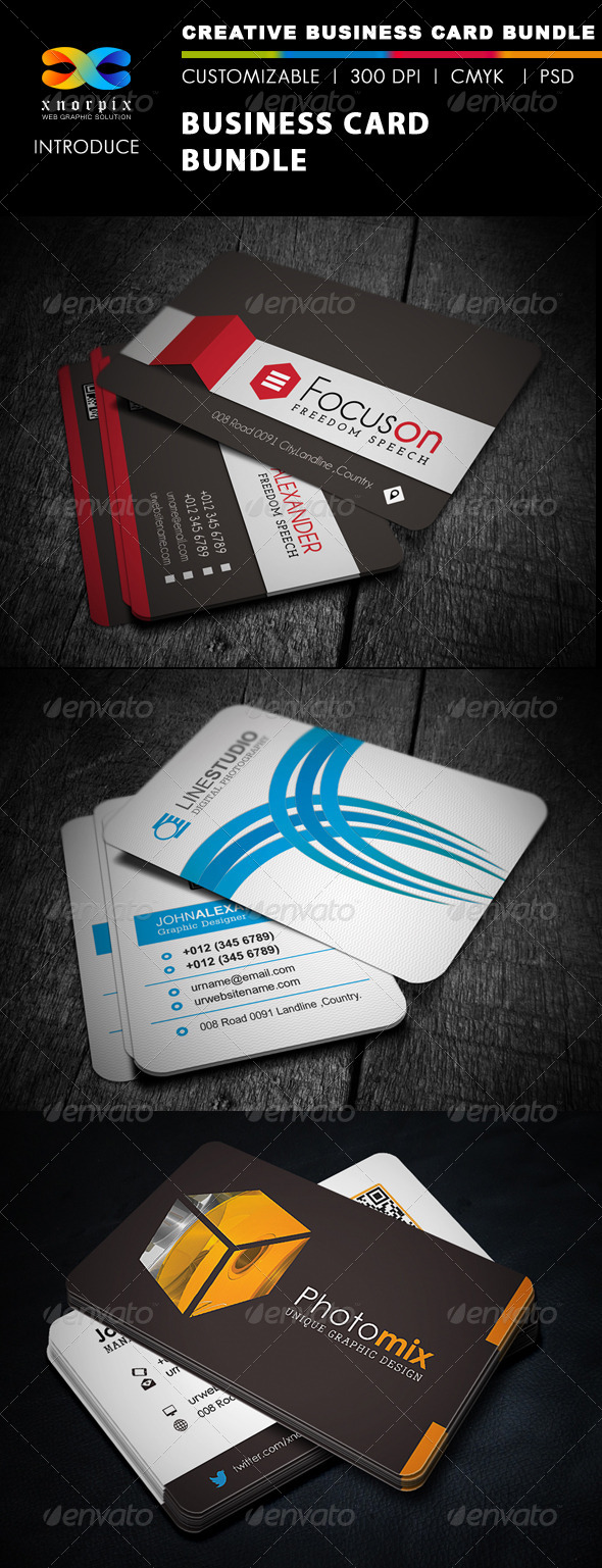GraphicRiver Business Card Bundle 3 in 1-Vol 25 5532750