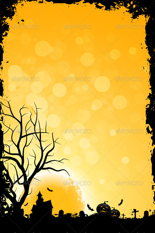 GraphicRiver Grunge Background for Halloween Party 5533255