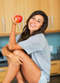 Beautiful woman with an apple - PhotoDune Item for Sale