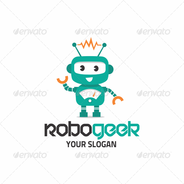 GraphicRiver Robo Geek Logo 5535069