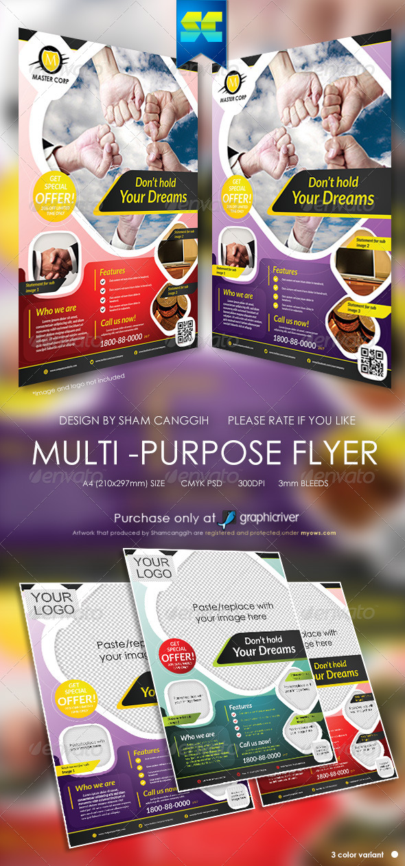 Modern Multi-Purpose Corporate Flyers - Corporate Flyers
