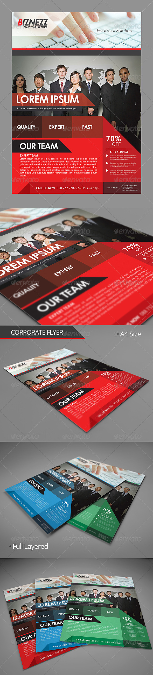 GraphicRiver Corporate Flyer 5536594