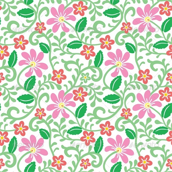 GraphicRiver Seamless Floral Background 5536994