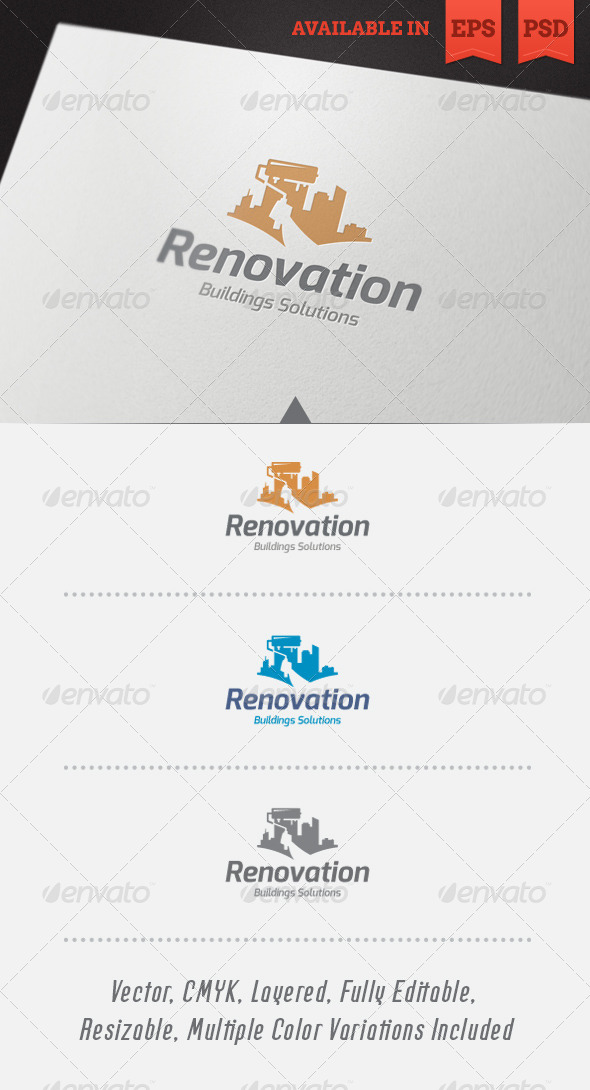 GraphicRiver Renovation Logo Template 5537165