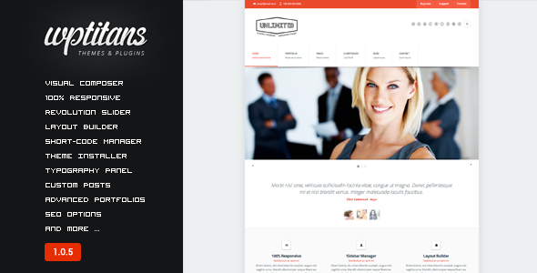 Unlimited - Flexible Responsive Business Theme - Business Corporate