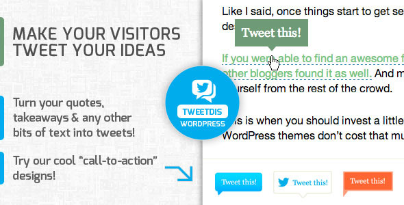CodeCanyon TweetDis Make Any Phrase Tweetable 5538842