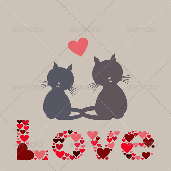 GraphicRiver Cat Love 5538872