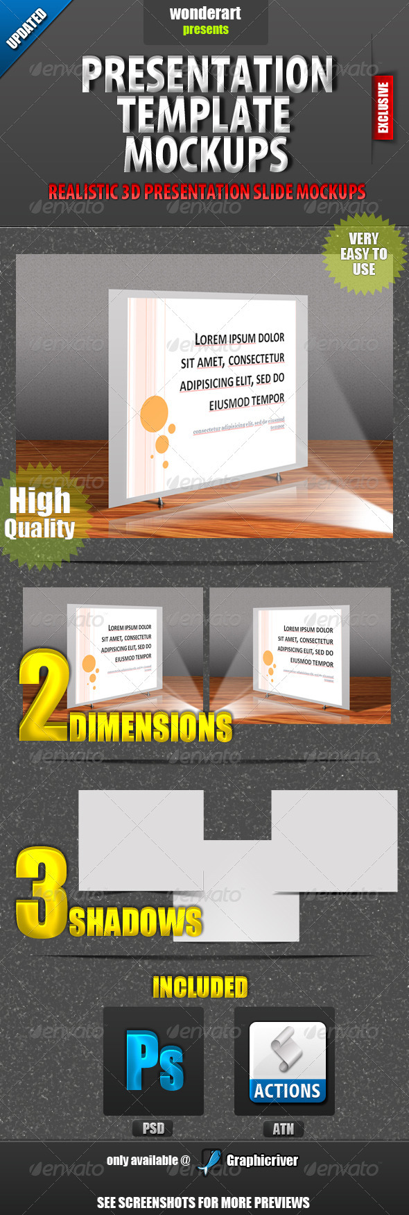 Presentation Template Mockups - Miscellaneous Displays