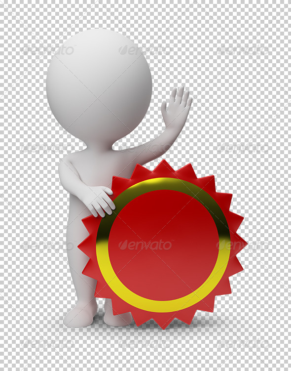 GraphicRiver 3D Small People Empty Label 5539751