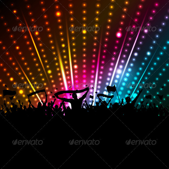 GraphicRiver Disco crowd background 570499