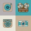 Retro Paper Icons - PhotoDune Item for Sale