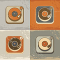 Retro Record Player Icons - PhotoDune Item for Sale