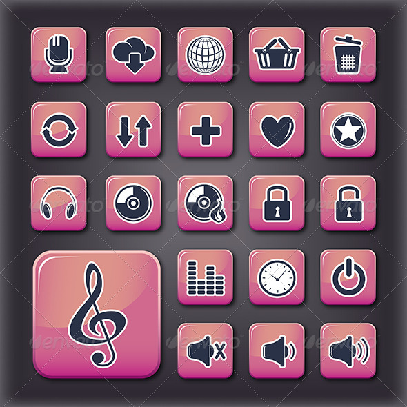 GraphicRiver Media Player Universal Buttons 5540856