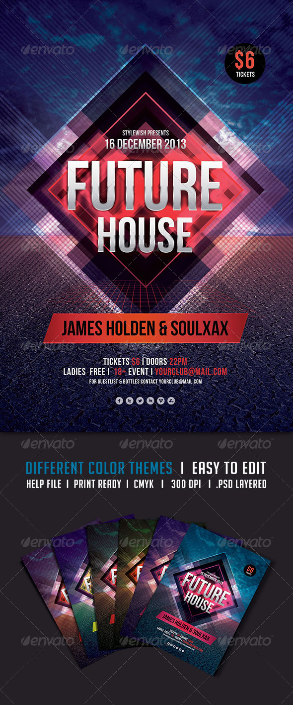 GraphicRiver Future House Flyer 5540910