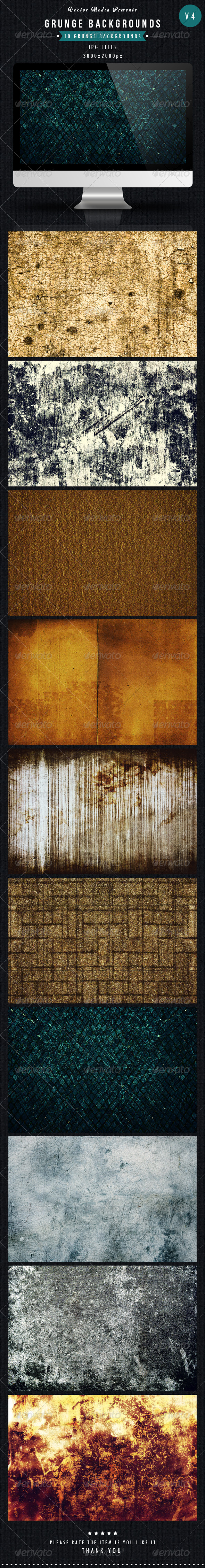 GraphicRiver Grunge Backgrounds Vol 4 5542084