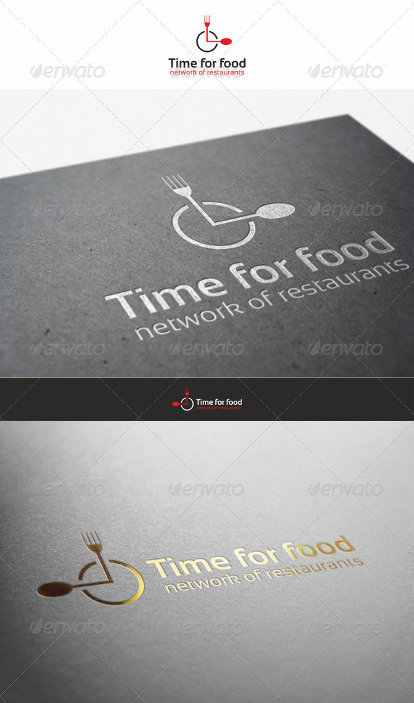 Time for Food - Restaurant Logo - Food Logo Templates