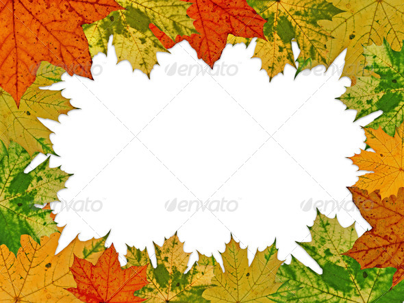 Autumnal Frame - Stock Photo - Images