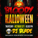 Bloody Halloween Party Flyer Template - GraphicRiver Item for Sale