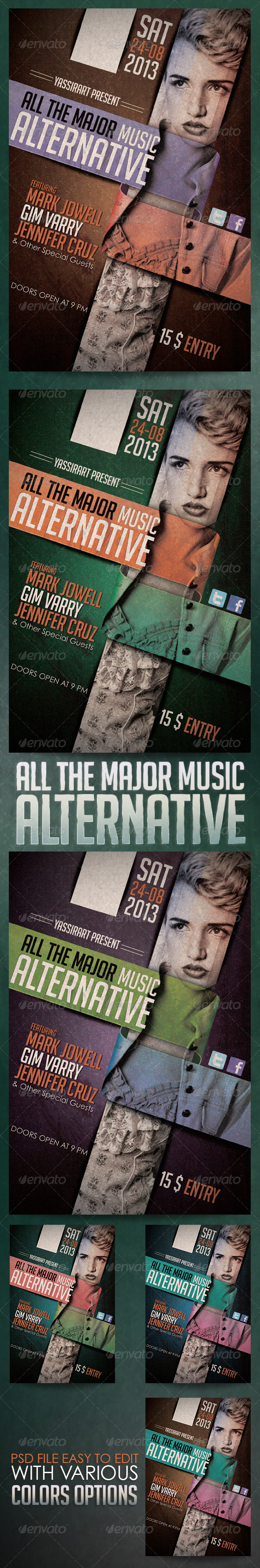 GraphicRiver All The Mejor Music Alternative Flyer Template 5542820