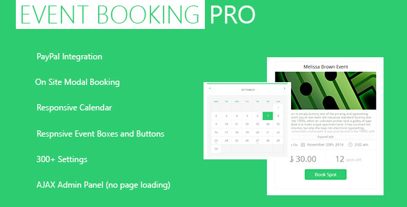 CodeCanyon Event Booking Pro WP Plugin PayPal and Modal 5543552