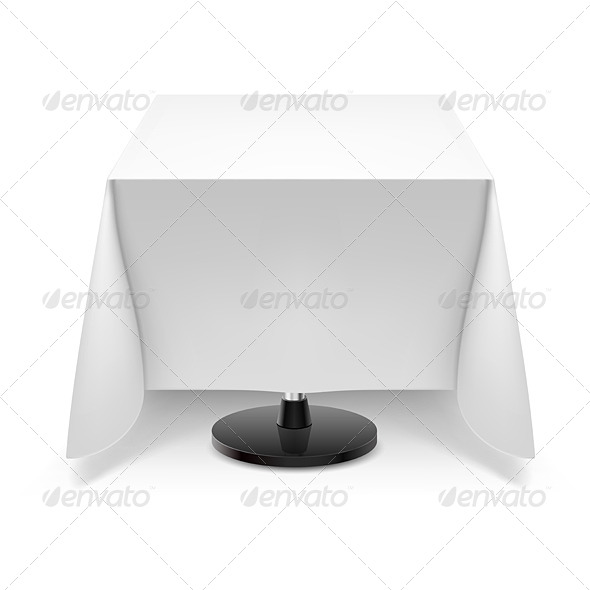 GraphicRiver Square Table with White Tablecloth 5543754