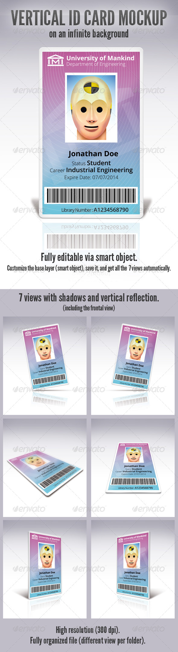 GraphicRiver Vertical Id Card 5543759
