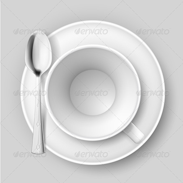 GraphicRiver Empty Cup with Spoon 5543853