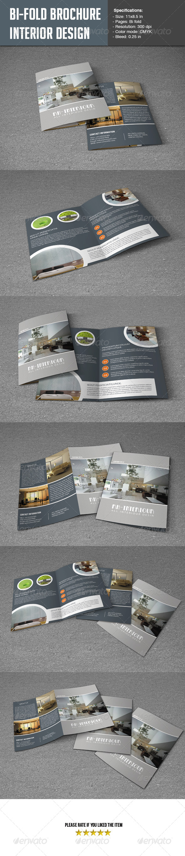 GraphicRiver Bifold Brochure for Interior Design 5545001