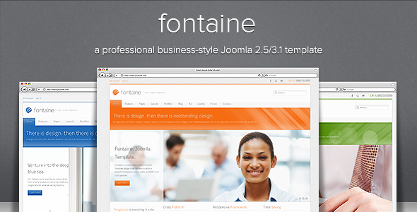 Fontaine - Clean Responsive Joomla Template - Screenshot 01 - Fontaine Clean Responsive Joomla Template