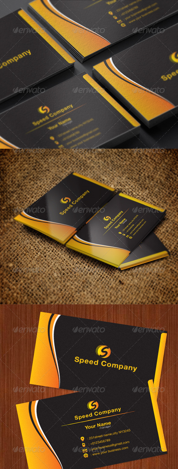 GraphicRiver Black Color Card 5496330