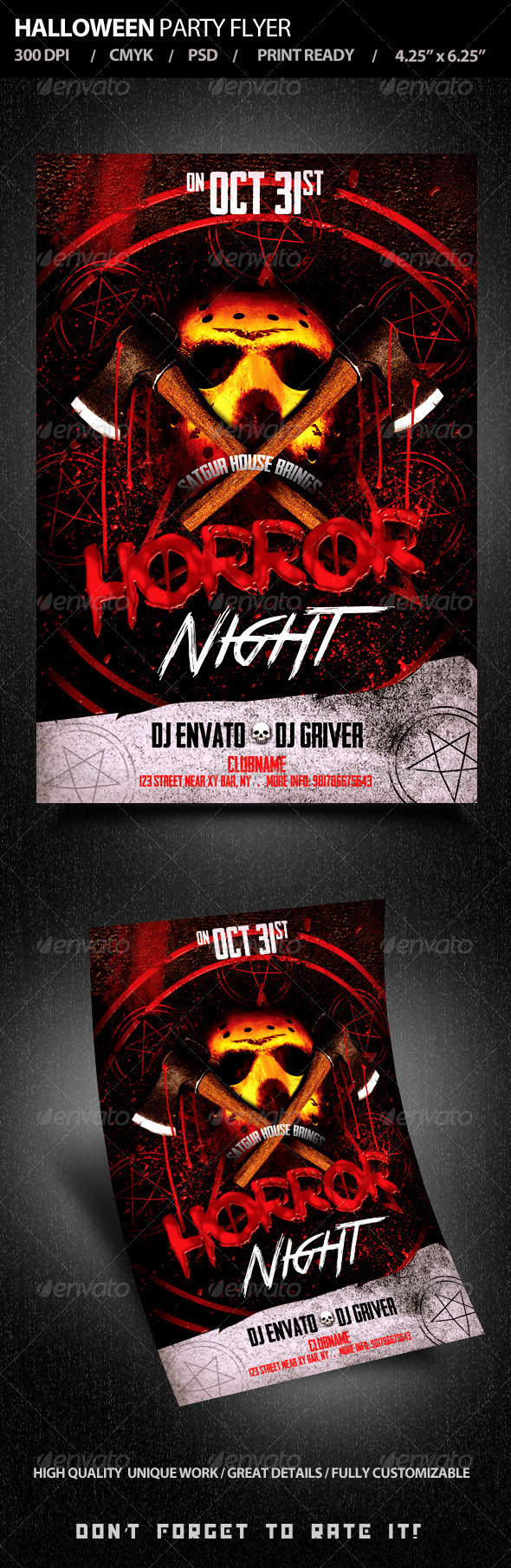 GraphicRiver Halloween Party Flyer V3 5545485
