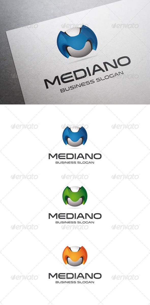 GraphicRiver Mediano M Letter Logo 5545935