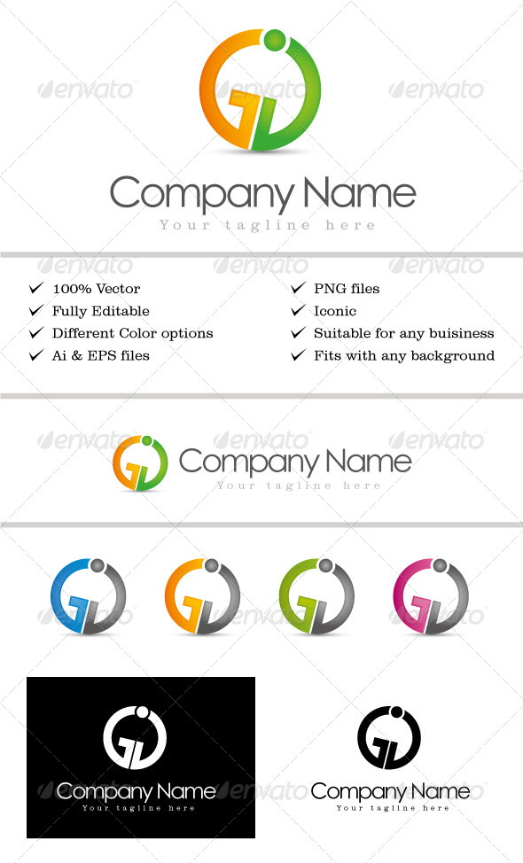 GraphicRiver GJ Logo Template 5545980