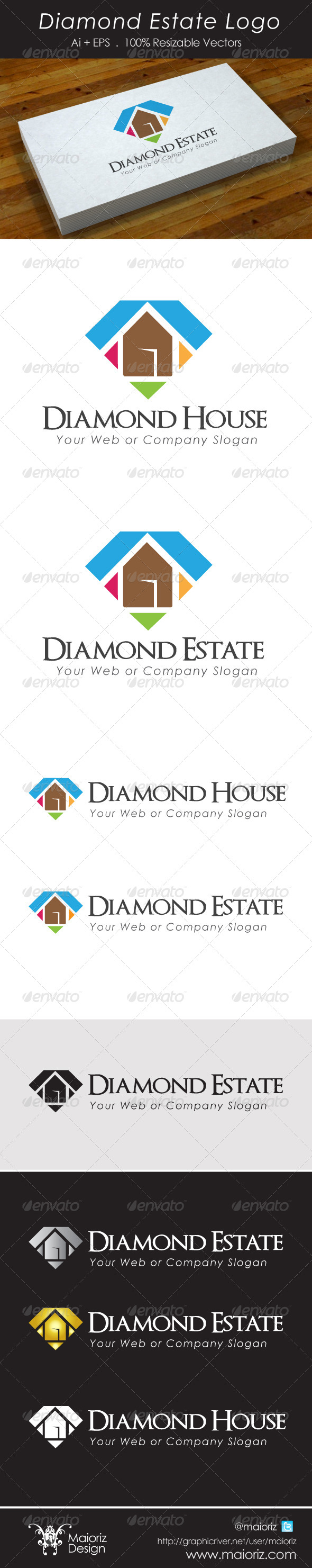 GraphicRiver Gem House Logotype 5546157