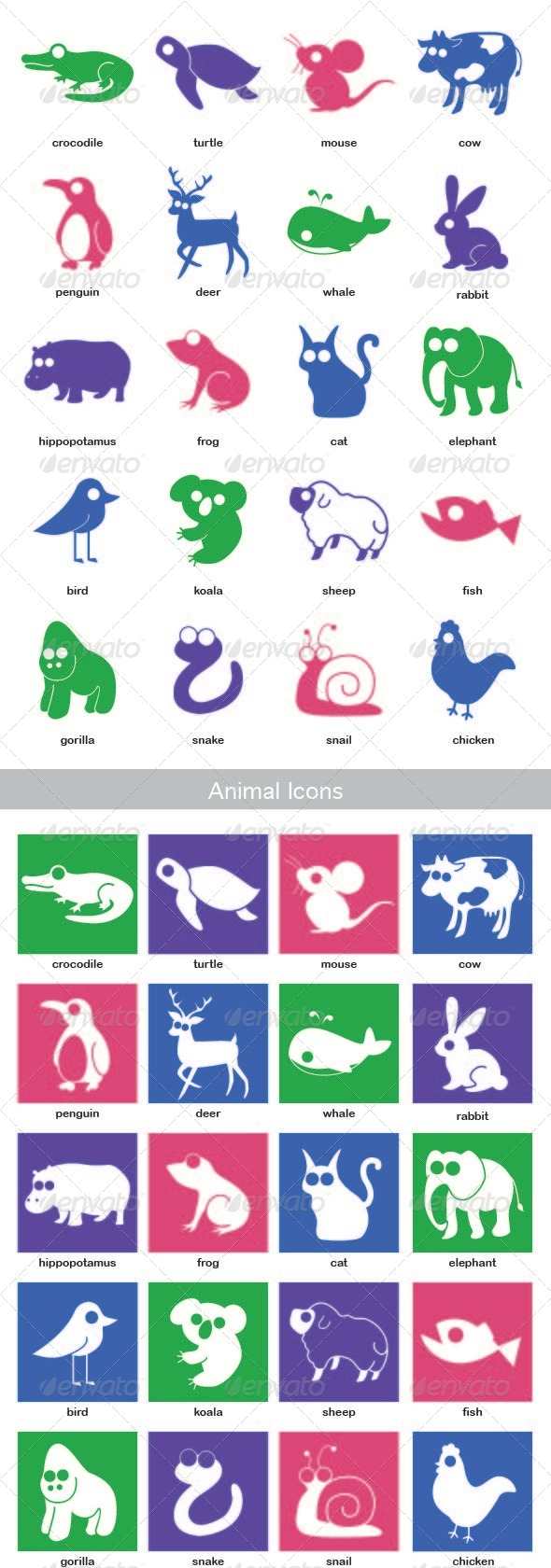 GraphicRiver Animal Icon Set 5546613