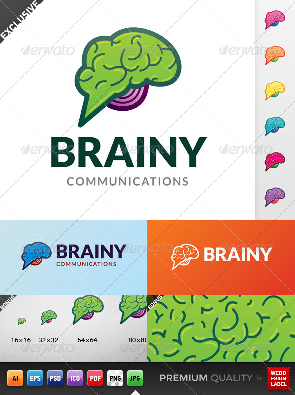 GraphicRiver Brainy Communications Logo 5546623
