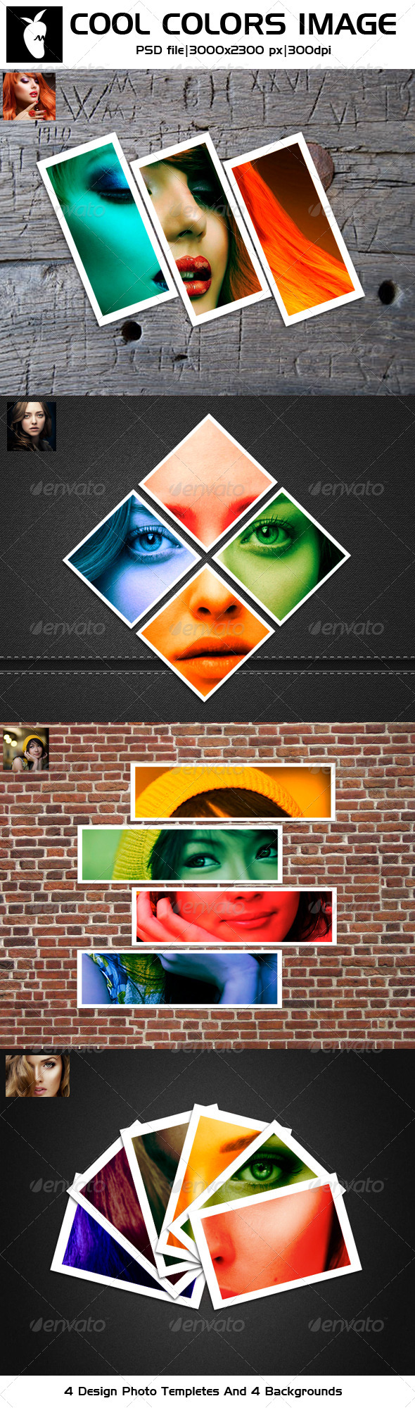 GraphicRiver Cool Colors Image Photo Templates 5547396
