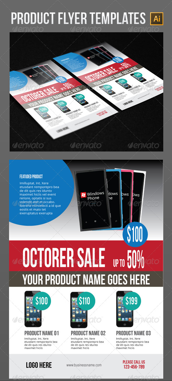 GraphicRiver Product Flyer Templates 5547702