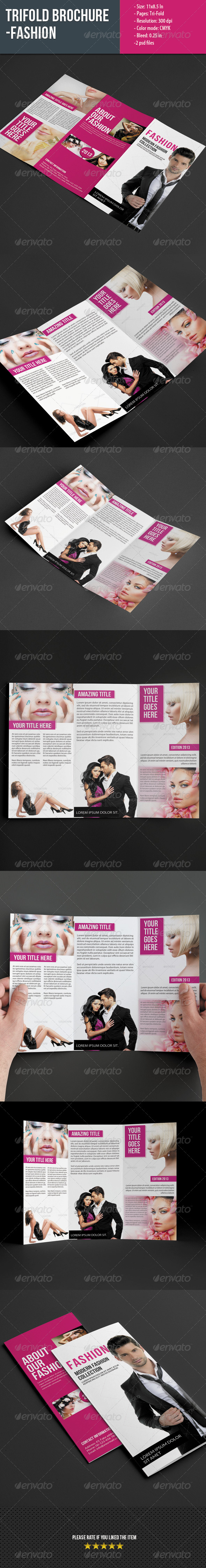 GraphicRiver Trifold Brochure for Fashion 5548622