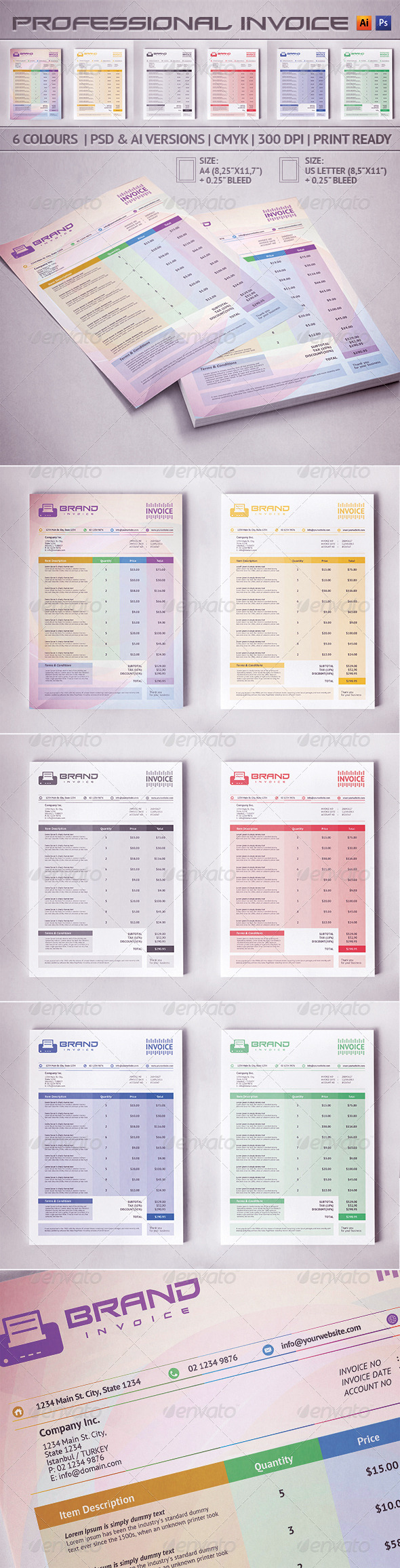 GraphicRiver Invoice 5548908