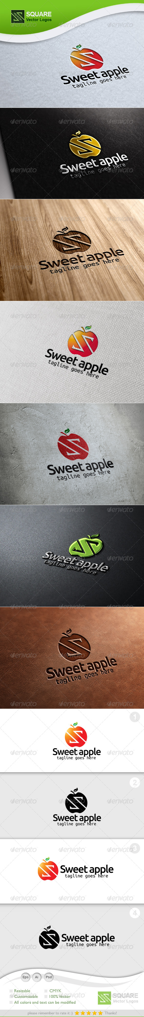 GraphicRiver S Letter Apple Vector Logo Template 5548937
