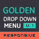 Golden Menu - Responsive Flat Dropdown Menu - CodeCanyon Item for Sale