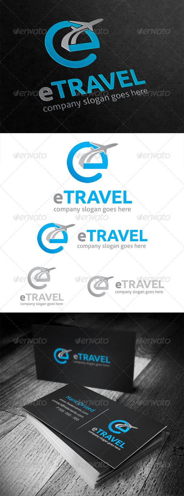 e Travel Logo - Letters Logo Templates