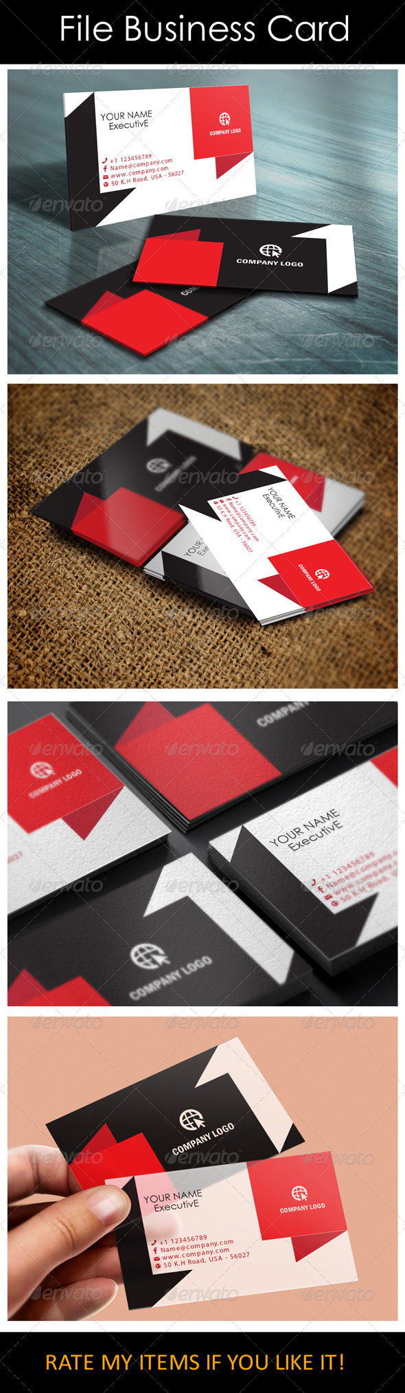 GraphicRiver Corporate File Business Card 5550899