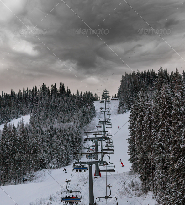 Ski resort - Stock Photo - Images