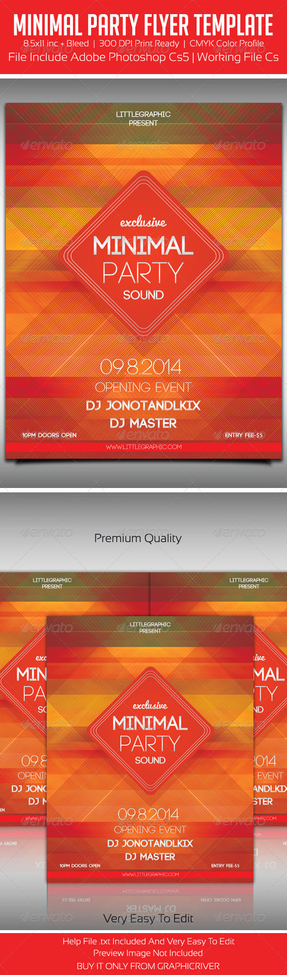 Minimal Party Flyer 2 - Print Templates