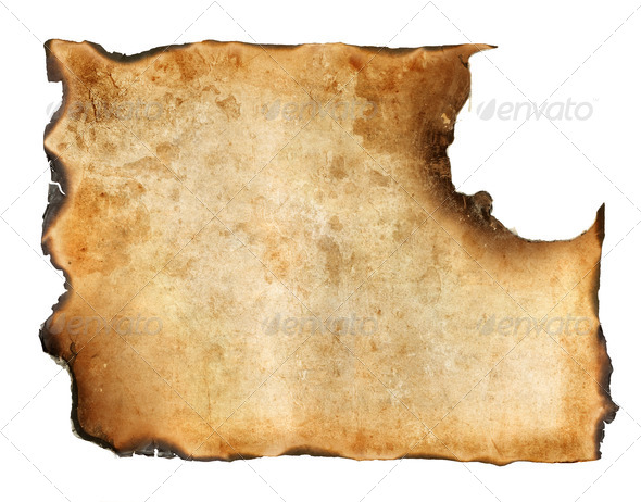Vintage Burnt Paper - Stock Photo - Images